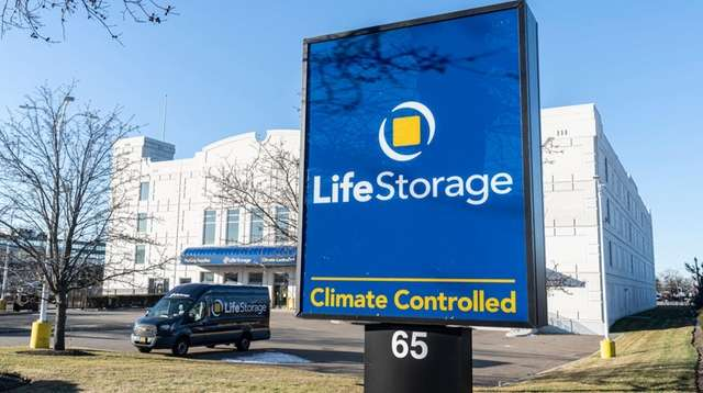 The Life Storage Inc. facility in Hicksville, seen