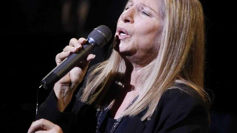 Barbara Streisand performs during A Tribute to Marvin