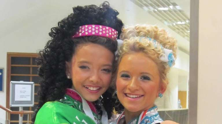 Julia O'Rourke and Marina Flatley-Griffin pose in this