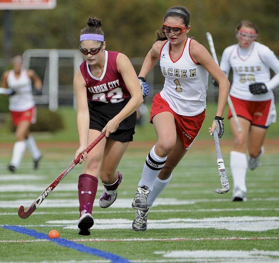 Garden City forward Krista Dampman controls the ball