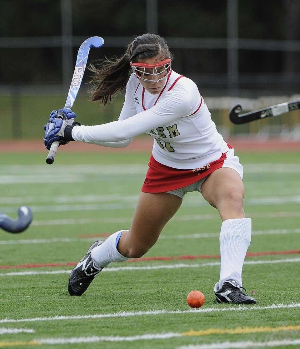 Sachem East's Nikki Healy takes a shot on