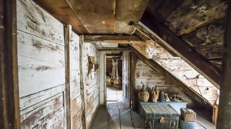 The attic where the slaves lived at Sylvester