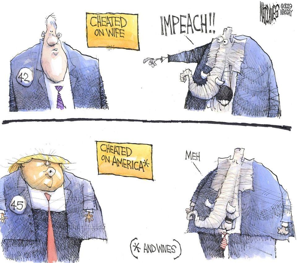 Matt Davies cartoon on the impeachment of President