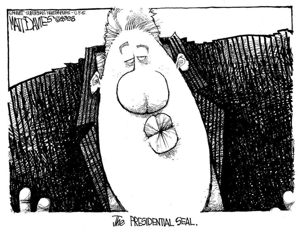 Matt Davies cartoons on Bill Clinton's impeachment trial