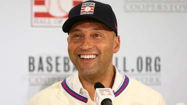 Derek Jeter is all smiles after being elected