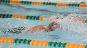 Connetquot's Maveric Rice wins the 200 yard Freestyle