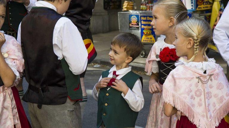 The Original Enzian German dance troupe, made up
