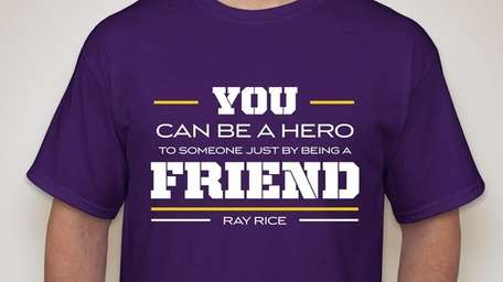 NFL running back Ray Rice designed a shirt