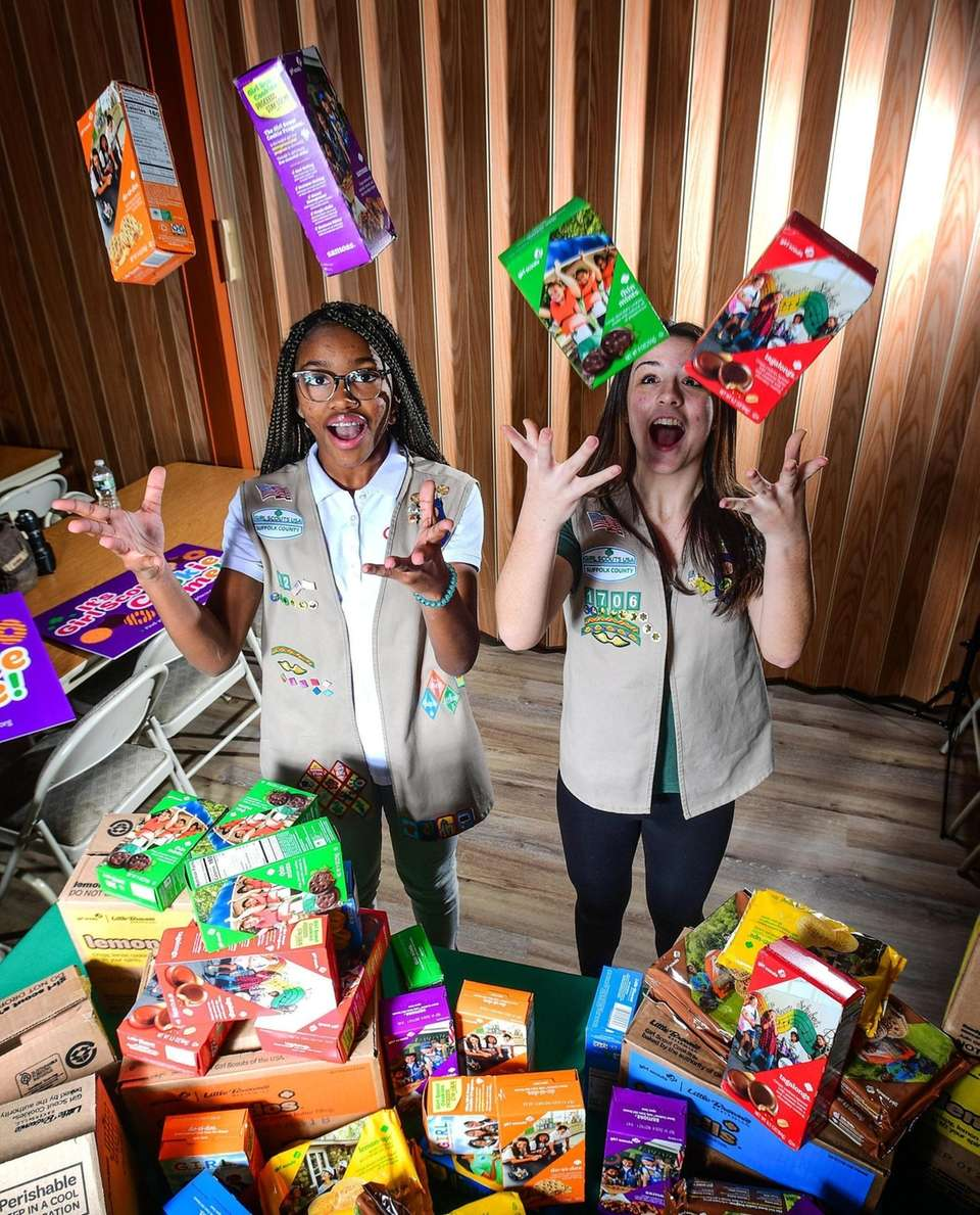 Portrait of Girl Scouts Olivia Philips and Ava