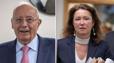 Former U.S. Sen. Alfonse D'Amato and his estranged