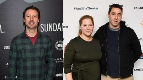 Kyle Dunnigan, left, and Amy Schumer and Chris