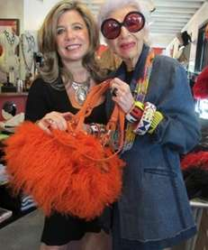 Business partners Lisa Nunziata and Iris Apfel show