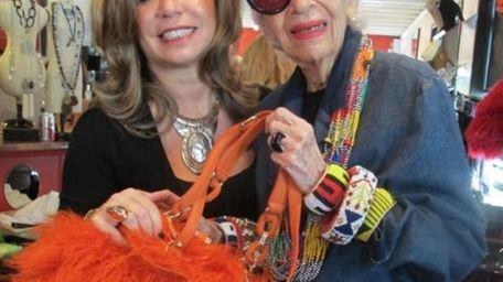 Business partners Lisa Nunziata and Iris Apfel show