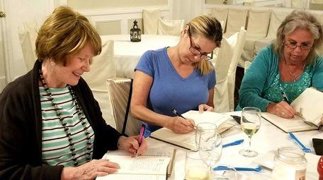 Participants in Susan Capurso's nine-week group workshop work