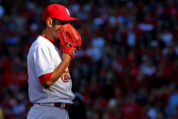 St. Louis Cardinals pitcher Jaime Garcia calls catcher