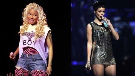 Nicki Minaj, left, and Rihanna