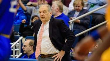 Hofstra men's basketball coach Joe Mihalich during the