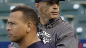 Joe Girardi, right, and third baseman Alex Rodriguez