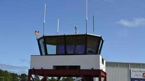 East Hampton's seasonal airport control tower.