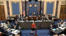In this image from video, House impeachment manager