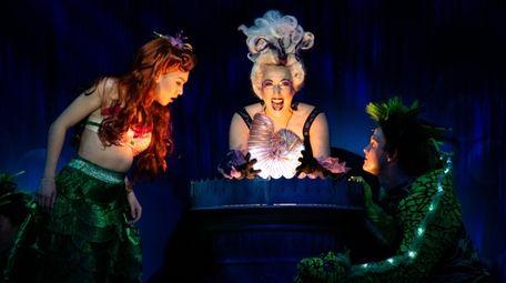 Kimberly Immanuel, left, plays Ariel and Courtney Balan