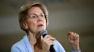 Democratic presidential candidate Sen. Elizabeth Warren, D-Mass., speaks