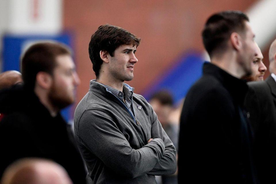 Giants quarterback Daniel Jones during a press conference