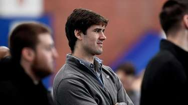 Giants quarterback Daniel Jones during a press conference