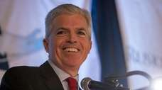 Suffolk County Executive Steve Bellone speaks at an