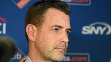 Mets general manager Brodie Van Wagenen introduced new