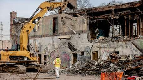 The demolition of the vacant Copiague building at