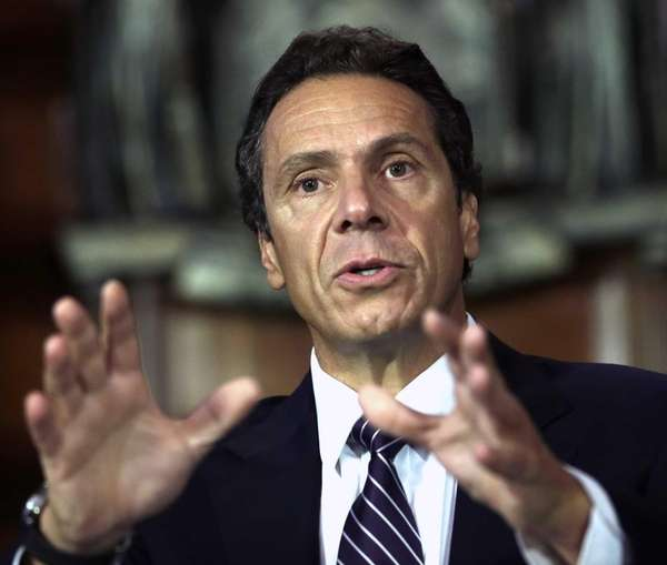 New York Gov. Andrew M. Cuomo speaks during