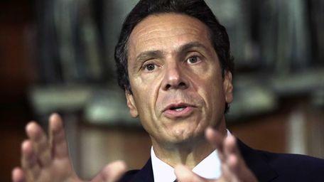 New York Gov. Andrew M. Cuomo speaks during