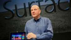 Microsoft chief executive Steve Ballmer introduces Surface, a