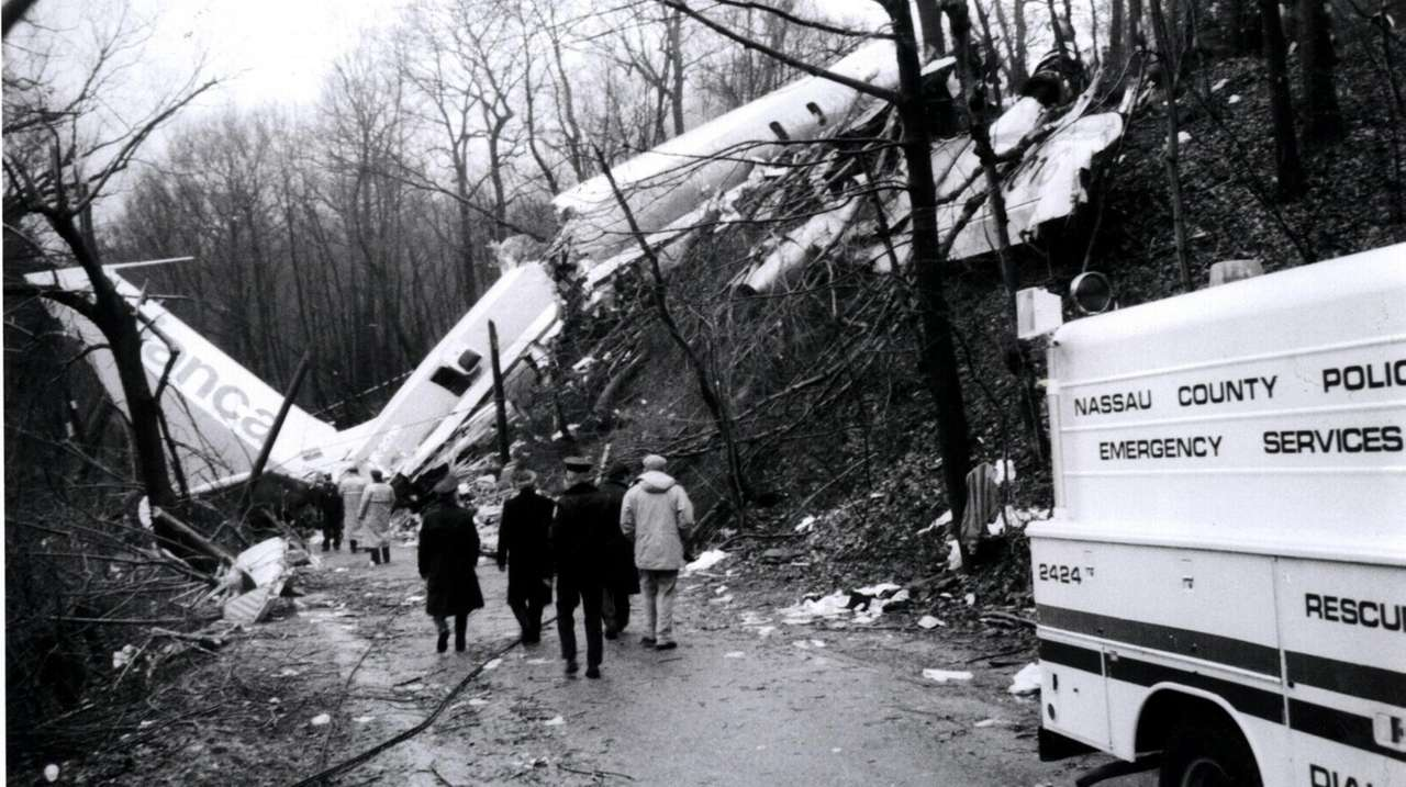 A view of the downed Avianca Jet that