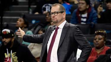 Raptors coach Nick Nurse came out of the