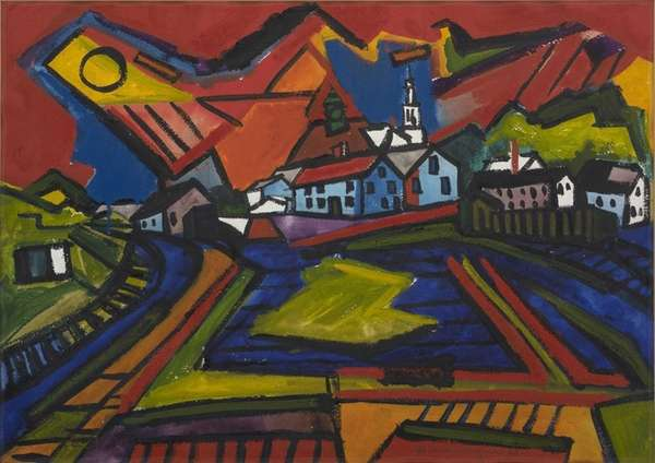 "De Hirsh Margules' ""Approach to Provincetown,"" 1948, is"