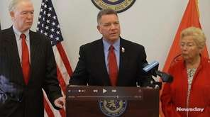 Nassau County Legis. Steve Rhoads spoke Friday at