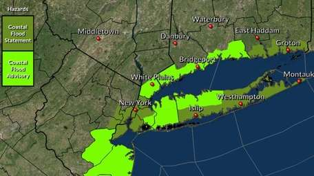 The area can expect wet conditions Saturday with