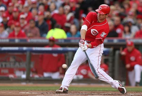 Joey Votto of the Cincinnati Reds at bat