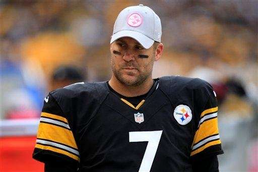 Pittsburgh Steelers quarterback Ben Roethlisberger stands on the