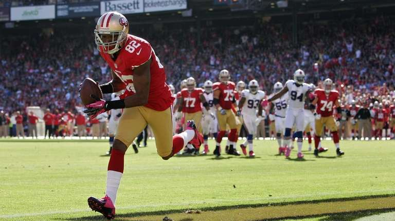 San Francisco 49ers wide receiver Mario Manningham pulls