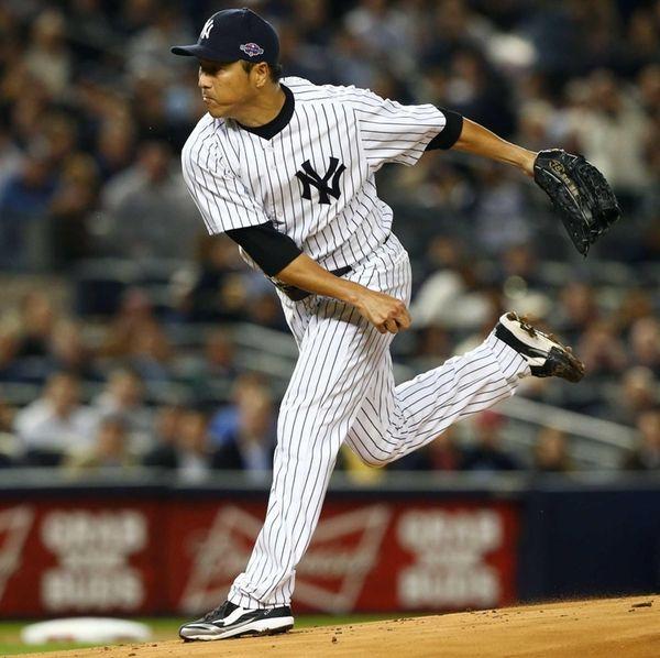 Hiroki Kuroda delivers a pitch against the Baltimore