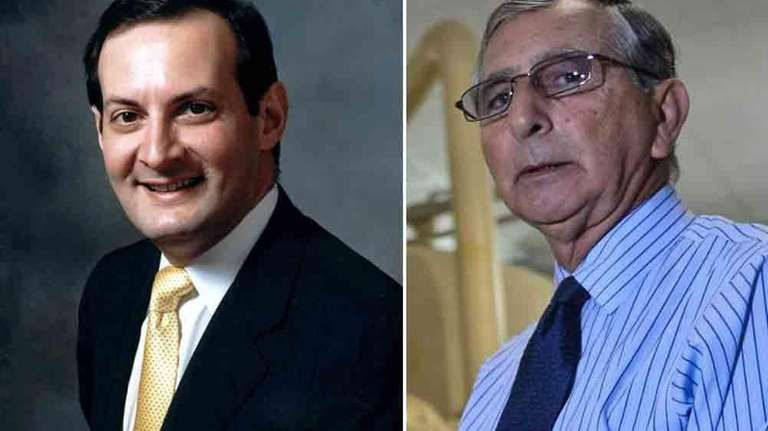 Left, Anthony Michael Sabino, a Mineola attorney, was