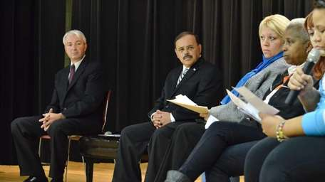 Assemblyman Philip Boyle, left, and County Legislator Ricardo