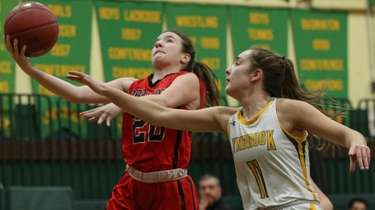 Erin Harkins of Floral Park gets the layup