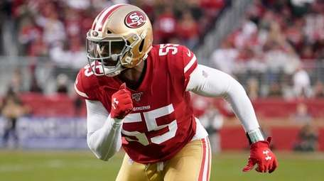 San Francisco 49ers defensive end Dee Ford in