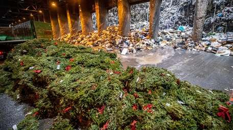 Wreaths were dumped from a truck at Covanta