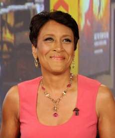 "Co-host Robin Roberts during a broadcast of ""Good"
