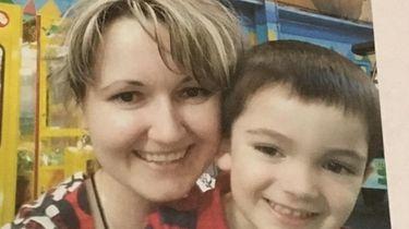 Justyna Zubko-Valva and her son Thomas Valva, who